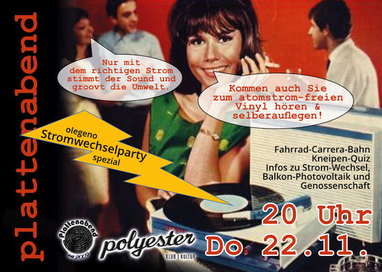 Flyer Stromwechselparty
